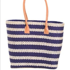 Handbags - NWT Jute Tote with Leather Accents